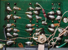 Welds. Soldering on PCB of the 70 Royalty Free Stock Image