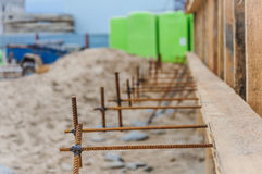Welds to secure the formwork Royalty Free Stock Photos