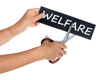 Welfare cuts, social services. Royalty Free Stock Images
