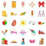 Welfare icons set, cartoon style. Welfare icons set. Cartoon set of 25 welfare vector icons for web isolated on white background Stock Photography