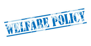 Welfare policy blue stamp Stock Image