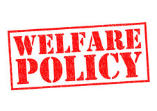 WELFARE POLICY. Red Rubber Stamp over a white background royalty free stock images