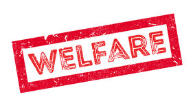 Welfare rubber stamp Stock Image