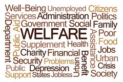 Welfare Word Cloud Stock Photos