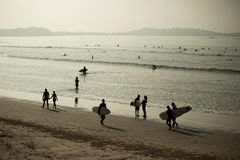 Weligama beach Royalty Free Stock Photo