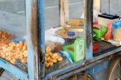 Traditional Sri Lankan food on the street in Weligama stock photo