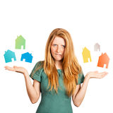 Welk huis te kiezen? Royalty-vrije Stock Fotografie
