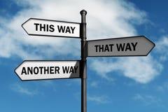 Welke manier te gaan?