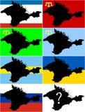 Welke vlag nu de Krim Royalty-vrije Stock Fotografie