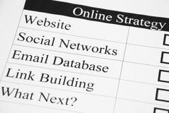 Welke Volgende voor Uw Online Strategie? Stock Foto's
