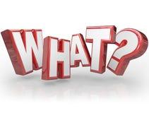 Welke Word Vraagteken 3D Achtergrond Stock Fotografie