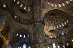 Welkin av den blåa moskén royaltyfri fotografi
