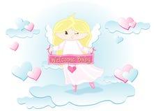 Welkom babymeisje Royalty-vrije Stock Foto