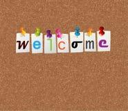 Welkom berichtconcept Royalty-vrije Stock Foto