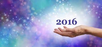 Welkom de Vieringsbanner van 2016 Royalty-vrije Stock Foto's