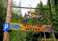 Welkom fietsers! Stock Afbeeldingen