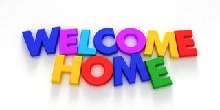 Welkom huis Stock Foto's