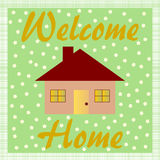 Welkom Huis Royalty-vrije Stock Afbeeldingen