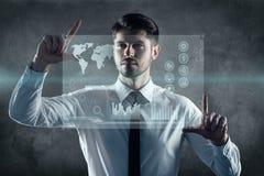 Welkom nieuwe technologieën Stock Foto's