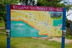 Welkom om Victoria Sign op te zetten Stock Foto
