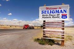 Welkom Seligman, Historisch Route 66, Arizona de V.S. Royalty-vrije Stock Foto