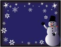 Welkom Sneeuwman Stock Afbeeldingen
