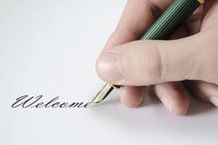 Welkom teken Royalty-vrije Stock Foto