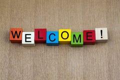 Welkom - teken Royalty-vrije Stock Afbeeldingen