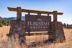 Welkom Teken in Vlaggemast, Arizona Royalty-vrije Stock Afbeelding