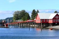 Welkome Centrum van het Punt van de Straat van Alaska het Ijzige royalty-vrije stock foto