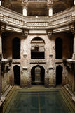 Well in Ahmadabad, India. Adalaj Stepwell is a Hindu water building in the village of Adalaj, close to Ahmedabad town in the Indian state of Gujarat Stock Photo