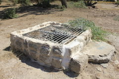 Well at Ancient City of Biblical Ashkelon in Israel Stock Photo