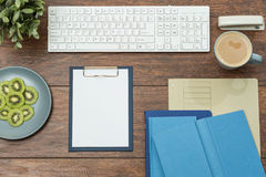Well arranged desk Stock Photo