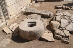 Free Well At Baram Ancient Synagogue, Israel Royalty Free Stock Images - 106450869