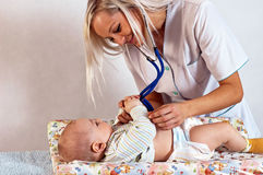 Well Baby Check-up Royalty Free Stock Photos