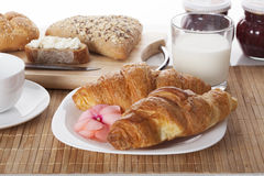 Well baked french croissants Royalty Free Stock Photography