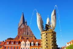 Well in Barth, an old town in Germany. Well in Barth, an old town on the Bodden in Germany stock photos