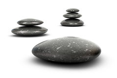 Well-beign - Pebbles Harmony Concept Royalty Free Stock Images