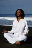 Well being 5. Well being on a black sand beach Royalty Free Stock Images