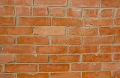 Well built red brick wall good job stock photo