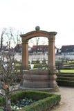 Well at church. Seligenstadt am Rhein Stock Images