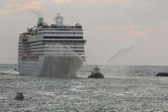Well come to the Port of Everglades stock image
