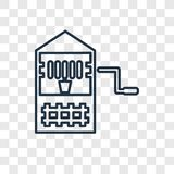 Well concept vector linear icon on transparent backgrou royalty free illustration