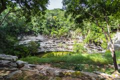 The well of death in Chichen Itza. Cenote Mexico.  stock photography
