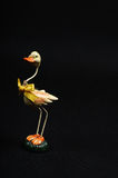 Well decorated duck on black. Image of easter duck on black Royalty Free Stock Images