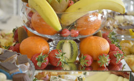 Well decorated fruits on a table Stock Photos