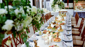 Well decorated table royalty free stock photography
