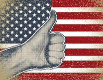 Well Done. Vector illustration of hand in gesture well done Stock Photography