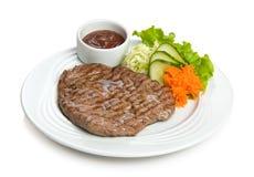 Well-done juicy steak Stock Photo