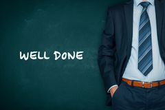 Well done motivational concept Royalty Free Stock Photos